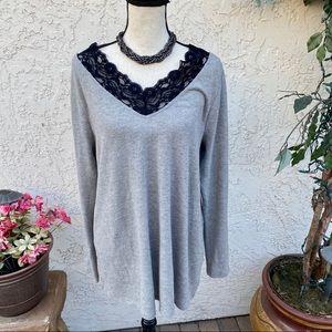 🌹 Lane Bryant Gray Ultra Soft Sweater 🌹